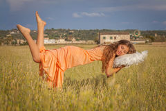 Peaceful sleep concept, relaxing vacation, Royalty Free Stock Image