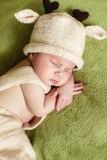 Peaceful sleep of a newborn baby Stock Images