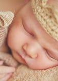 Peaceful sleep of a newborn baby Royalty Free Stock Image