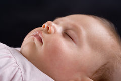 Peaceful sleeping baby Stock Photo