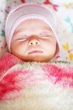 Peaceful sleeping baby Stock Images