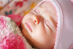 Peaceful sleeping baby Royalty Free Stock Images