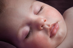 Peaceful sleeping baby. Royalty Free Stock Photography