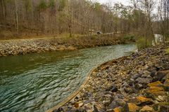 The Smith River below the Philpott Lake Dam - 2 royalty free stock photography