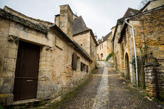 Peaceful streets of carennac, france Stock Images