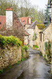 Peaceful streets of carennac village at france Royalty Free Stock Photography