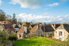 Peaceful streets of carennac village at france Royalty Free Stock Photo