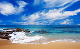 Peaceful Summer Beach Royalty Free Stock Photo
