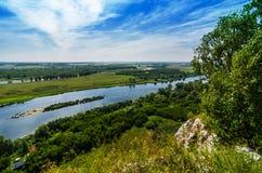 Peaceful summer landscape Stock Photos