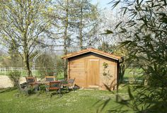 Peaceful summerhouse Stock Photography