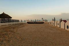 Peaceful Sundown Over Mamaia Beach Stock Image
