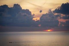 Peaceful sunrise. Over the ocean Stock Photography