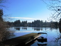Peaceful time by the lake Royalty Free Stock Photography