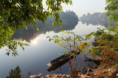 Peaceful tropical river landscape Royalty Free Stock Photography