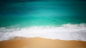 Peaceful tropical seacoast. 1080p 60 fps tropical beach high angle view stock footage