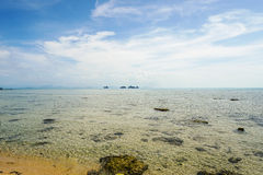 Peaceful tropical seascape. In Thailand Royalty Free Stock Photos