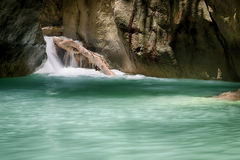 Peaceful Tropical Waterfall Stock Photography