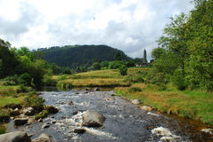 Peaceful Valley. Ancient ruin in a valley in Co.Wicklow ireland Royalty Free Stock Photography
