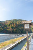 Peaceful view at Arashiyama, Japan Royalty Free Stock Image