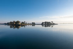 Peaceful view of the Island of Arz in Bay of Morbihan, Brittany Royalty Free Stock Photos