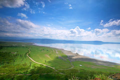 Peaceful view on the lake Nakuru. Africa. Kenya royalty free stock images
