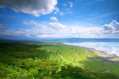 Peaceful view on the lake Nakuru. Africa Kenya stock photo
