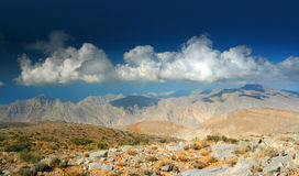 Peaceful view on the mountains. Beautiful mountains of Oman. Peace royalty free stock image