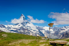 Peaceful view on the Swiss Alps Stock Photo