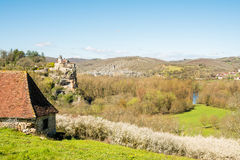 Peaceful village of france countryside Stock Photos