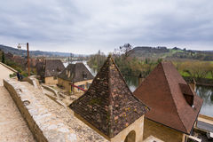 Peaceful village la roque gageac, france Royalty Free Stock Photography