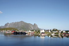The peaceful village of Reine Royalty Free Stock Photo