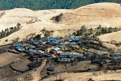 Peaceful village at Shangri La in china Stock Photos