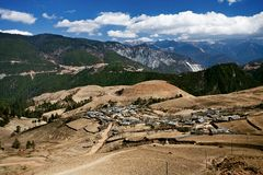 Peaceful village at Shangri La in china Royalty Free Stock Photography