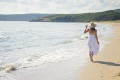 Peaceful walk along the coast Royalty Free Stock Photography