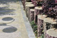 Peaceful walkway in garden Stock Image