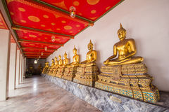The peaceful. Wat Pho, or Wat Pho is an important measure of a country. On the south side of the palace. The monastery is a classical type Jed. And a temple of Royalty Free Stock Images