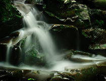 Peaceful waterfall stock photo