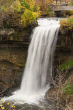 Peaceful Waterfall. This is the Minnehaha Falls in Minneapolis, Minnesota Royalty Free Stock Photo