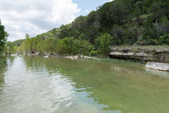 Peaceful waters in the beautiful green Hill Country of Texas Royalty Free Stock Photography