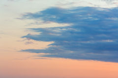 Peaceful white clouds Stock Photography