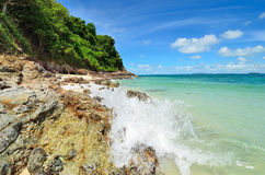 Peaceful white sand beach at Talu island Royalty Free Stock Image