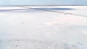 Peaceful winter area white snow landscape skyline. Peaceful winter area. White snow landscape. Blue skyline clouds stock footage