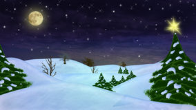Peaceful winter scene Stock Images