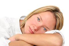Peaceful Woman Stock Photo