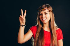 Peaceful woman Royalty Free Stock Photos