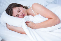 Peaceful woman sleeping Royalty Free Stock Images