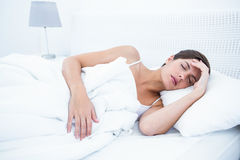 Peaceful woman sleeping Royalty Free Stock Image