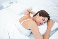 Peaceful woman sleeping Royalty Free Stock Photography
