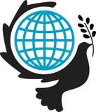 Peaceful world log. Very nice illustrated line logo design of peaceful world royalty free illustration
