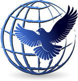 peaceful world logo Royalty Free Stock Photo